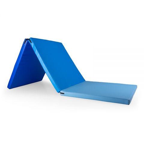 Foldable Gym Mat 180 x 60 x 4cm, Blue