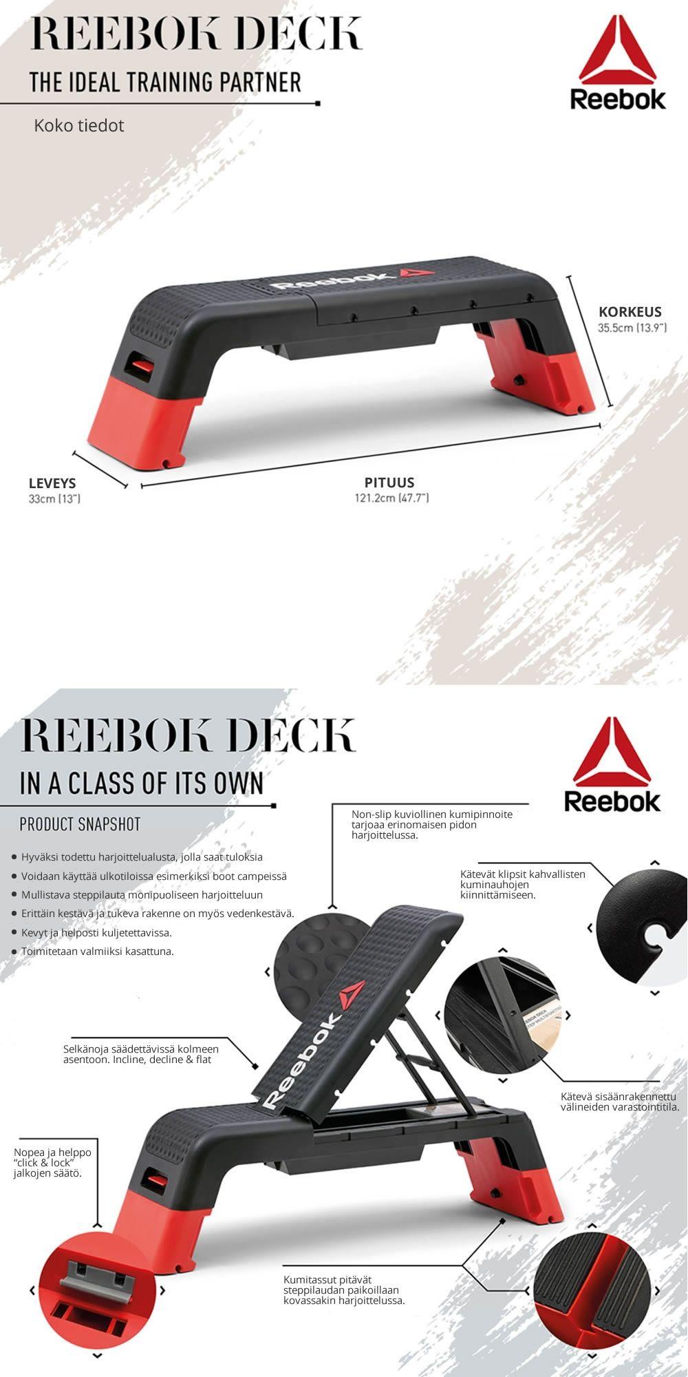 Reebok Deck Delta steppilaudan esittely